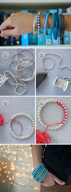 Pearly and Colourful Bracelets – DIY