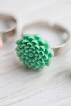 Flower Ring  Adjustable  Romantic  Spring by WhiteLilyDesign, $9.00