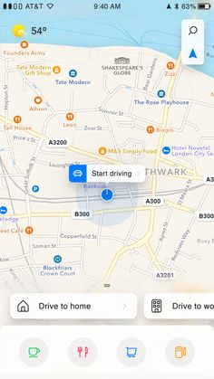 iOS Maps Redesign, with shortcuts to shortcuts Dashboard Design, Map Design, Mobile Ui, London City, Play Houses, Arrow, Maps, Behance, Classroom