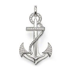 Thomas sabo dijes serpiente y manzana thomas sabo pinterest anchor has symbolic meaning of hope faith love pendant with eyelet 925 sterling silver white syn zirconia pav the new anchor sparkles with syn aloadofball Choice Image