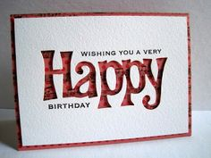 Masculine Birthday Cards Made With Cricut ~ Masculine birthday card from cricut art deco cartridge my