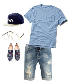 """""""Going out with friends"""" by ki-mo on Polyvore featuring RVCA, Hollister Co., Gucci, men's fashion and menswear"""