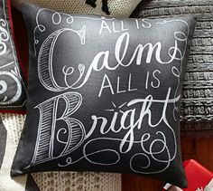 All is Calm All is Bright Pillow Cover | Pottery Barn