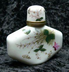 Antique Ricksecker N Y Perfume Snuff Porcelain Bottle Circa 1890'S