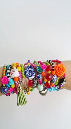 friendship bracelet  Boho Chic Bracelets  tassel  by TresJoliePT