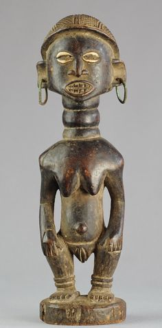 Statue féminine Lwena Luena ou Tschokwe - Chokwe Angola Tshokwe - MC02 – Galerie de la Louve - Arts Premiers https://tribalart.be/collections/nouveau-new/products/statue-feminine-lwena-luena-ou-tschokwe-chokwe-angola-tshokwe-mc0205
