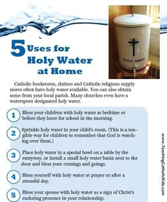Holy Water at home?