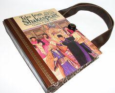 Book Purse Shakespeare Handbag Upcycled Book Bag by retrograndma