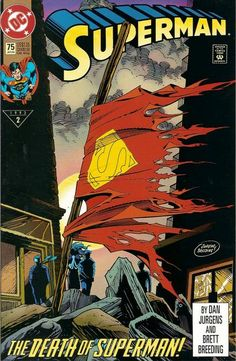 Cover for Superman (DC, 1987 series) #75 [Memorial Edition]