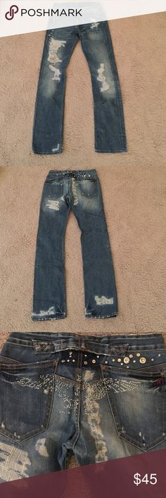 Replay jeans Design jeans , 31 waist , 8 front rise , 11 back rise , 33 inseam, 16 hem Replay Jeans Boyfriend