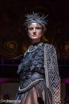 Close up of Head pieces made by Joey Oso. Made of hammering Nails. #hair #fashion #fashionshoot #avantguarde #RAWARTIST #photoshoot #hairstyles #hairdresser #runway #curls #model #fashionweek #nails #headpieces #alexandermcqueen #ladygaga 