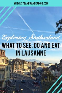 Medieval magic: What to see, eat and do in Lausanne, Switzerland. This hilly town on the banks of Lake Geneva in Europe is known for its sporting history and Olympic ties - but there is more to Lausanne than that. From the Lausanne cathedral and historic sites to cobblestone shopping streets and modern public art, this Swiss city is worth exploring further.