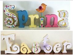 Spring / Easter Wood Letters