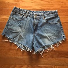 High waisted jean shorts High waisted Jean shorts! I made them myself and they are really cute! They fit well and are flattering. Shorts Jean Shorts