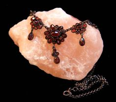 Art Deco Bohemian Garnet Necklace