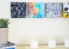 Διακοσμητικοί πίνακες από κουτιά παπουτσιών!!