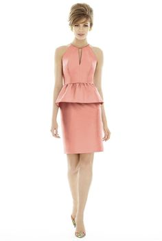 2016 A Line Pink Keyhole Ruched Split Satin Mini Length Bridesmaid Dress/ Prom Dresses 20160220 D687 http://www.dresses4australia.com.au/2016-a-line-pink-keyhole-ruched-split-satin-mini-length-bridesmaid-dress-prom-dresses-20160220-d687-p-8329.html