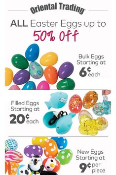 Big eggs, small eggs, bulk eggs, filled eggs – you'll find 'em here and you'll find 'em for less. Glitter Putty, Bubble Bottle, New Egg, Easter Religious, Plastic Easter Eggs, Easter Crafts For Kids, Egg Hunt, Free Coloring Pages, Easter Baskets