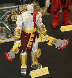 LEGO Kratos God of War by Shawn Snyder at Brickcon 2011      - For epic fail, stupid, demotivational, funny pictures go to - http://dumbwire.com/funny