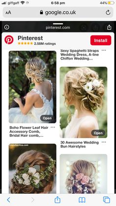 Bride Hair Flowers, Bride Hairstyles, Crown, Jewelry, Fashion, Hairstyles For Brides, Moda, Bridal Hairstyles, Corona