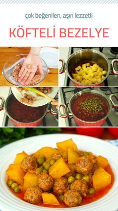 Misket Köfteli Bezelye Yemeği (videolu) Tarifi nasıl yapılır? #nefisyemektarifleri #köfte #bezelye