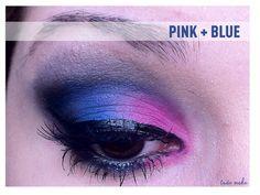 Tudo Make - Make up Passo a Passo Maquiagem Rosa e Azul - Por Ariadne Cretella, make up, make up, make up