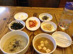 あわび粥 @釜山  Avalon porridge breakfast @Busan, Korea - mmmmmm,!