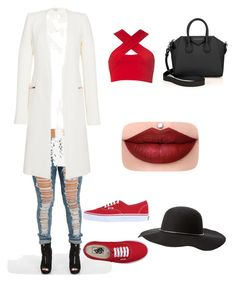 """Red❤"" by jairenee25 on Polyvore featuring Motel, Thierry Mugler, Vans, Givenchy and Charlotte Russe"