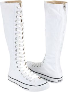 white knee high converse!! I want to have a summer wedding so I can. Knee  High ConverseConverse BootsTop ... 0927b0e5d