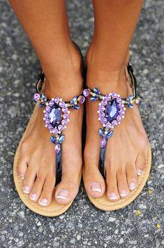 Dancing In The Moonlight Sandals: Purple