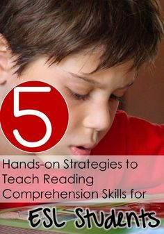 Teaching Reading Comprehension to ESL Students - Strategies and ideas! A total must read.