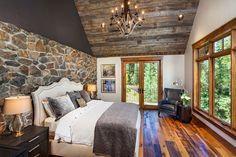 A collection of interior designs featuring 19 Magical Rustic Bedroom Interior Designs That Will Relax You. Mountain House Decor, Mountain Home Interiors, Home Interiors And Gifts, Mountain Homes, Young Living, Simple Bedroom Design, Decoration Bedroom, Cottage, Home Bedroom
