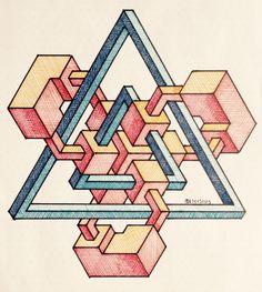 #regolo54 #impossible #isometric #penrosetriangle #Oscar_reutersward #symmetry…