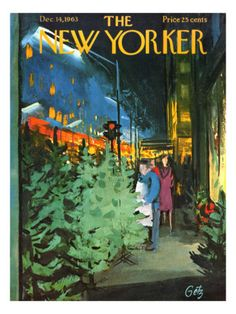 The New Yorker Cover - December 14, 1963 - Arthur Getz