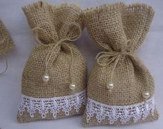 Handmade ideas from jute.❤ This tym lets celebrate an eco frndly diwali.lets say no to plastics and firecrackers❤ Instead of polythene use this jute bags, or cusion for beautiful decoration. Lavender Crafts, Lavender Bags, Lavender Sachets, Sewing Crafts, Sewing Projects, Potli Bags, Burlap Projects, Shabby Chic Crafts, Wedding Favor Bags
