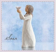 """Willow Tree Soar figurine.... """"a time to reflect, a time to soar"""""""
