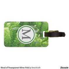 Shoal of Transparent Silver Fish Luggage Tag