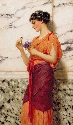 Violets - John William Godward