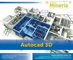 Al finalizar el #curso, el participante será capaz de realizar el modelado utilizando las diferentes técnicas en #Autocad para la creación y edición en modelos #3D mediante ejercicios con el programa. Visita www.mineria.unam.mx para más detalles del curso.