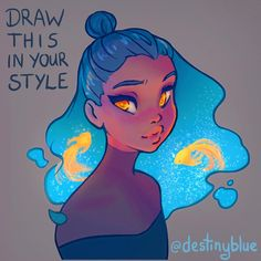 After taking a break for a long while (for mental health reasons) this challenge has really inspired me to jump back into drawing! I enjoyed the challenge of creating an interesting character design for the #drawthisinyourstyle task for you all!   The challenge is simple - redraw this image in your own style! Have fun! Change any elements you like, add you own flair, go wild!  To make sure I see your creations tag me and use the hashtag #destinyblueredraw so I don't miss yours!  Mostly I w