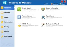 windows 10 manager 2 2 2 is a full free and simple utility that aids to tweak optimize repair and clean up windows 10 in single click this tool