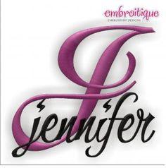 Monogram Sets :: Jennifer Monogram Script - Embroitique.com