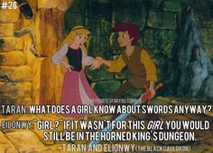 You go Eilonwy! (The Black Cauldron) Random fact: Eilionwy is till this day, still not recognized as a official Disney Princess, due to the fact that The Black Cauldron was a box office failure. However, should she be made one, she would be the youngest Disney Princess, at the age of 12. This title is currently held by Snow White (14)