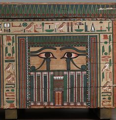 Coffin of Nakhtkhnum (with details) Period: Middle Kingdom Dynasty: Dynasty 13 Date: ca. 1802–1640 B.C. Geography: From Egypt, Middle Egypt, Meir (Mir), Khashaba excavations Medium: Wood, paint The Met
