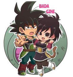 Gine Dbz, Dragon Ball Z, Son Goku, Anime Chibi, Character Illustration, Anime Couples, Art Reference, Animation, Cartoon