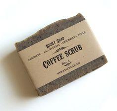 Coffee Scrub Soap - Kitchen Soap, Vegan Soap, Unscented Soap, All Natural Soap, Handmade Soap, Fragrance Free Soap,  Cold Process Soap,. $6.00, via Etsy.
