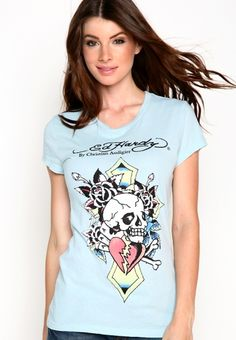 Skull Hearts And Cards Basic Tee, Regular: $62.00