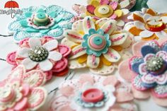 beautiful felt flower tutorials