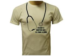 Funny t-shirts design with stethoscope