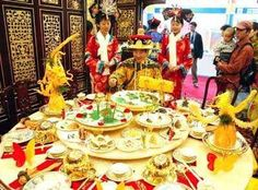 The model of  Emporer Kangxi's magnificent banquet for his 66th birthday.